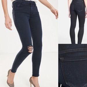 Mother Midnight Blue High Waisted Looker Jeans